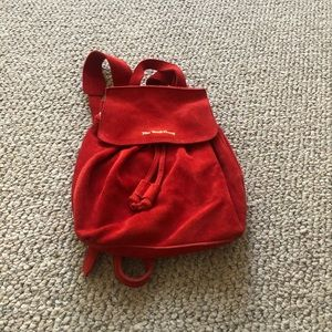 The Wolf Gang MINI BACKPACK in Red DAHLIA NEW
